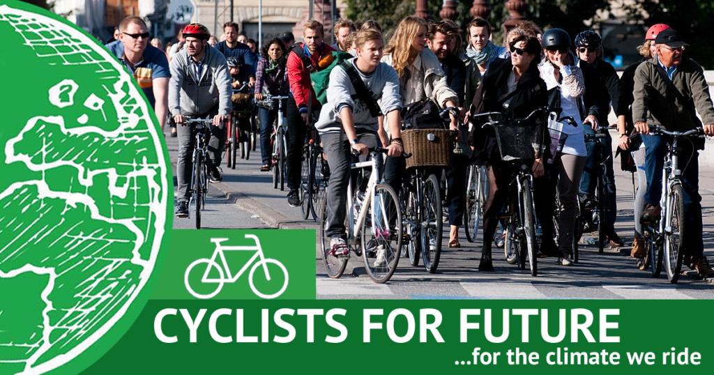 Cyclists4Future Radfahrer für die Zukunft Klimstreik